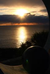 喜屋武岬からの夕日