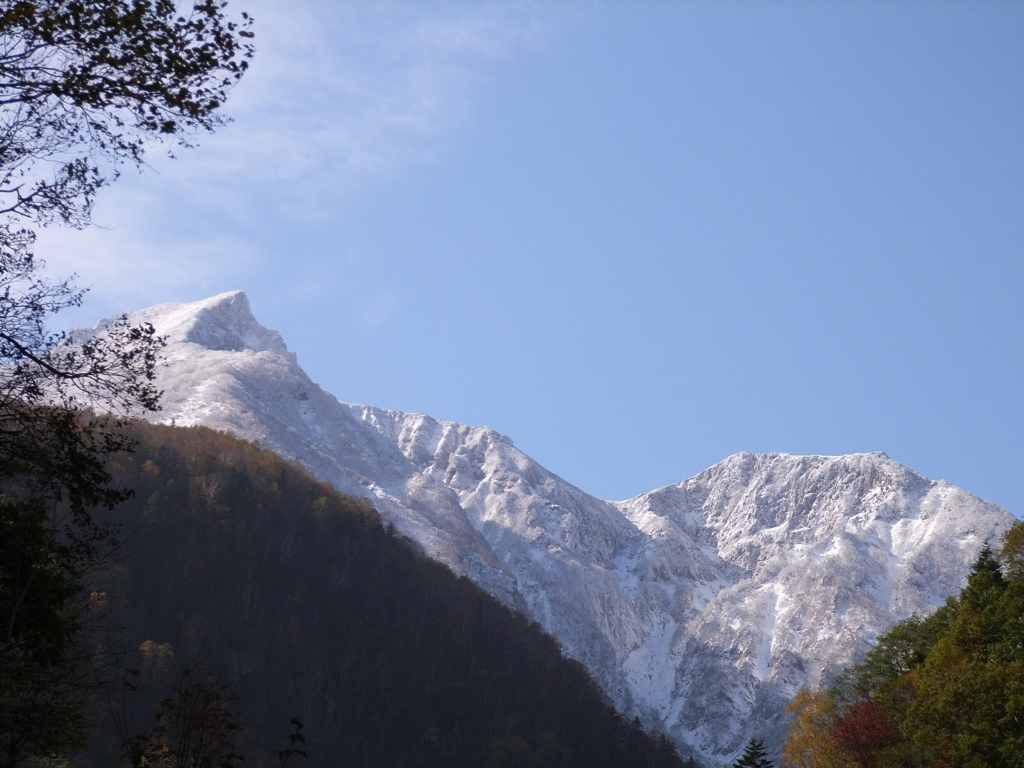 層雲峡から見た大雪山
