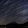 星が写る湖