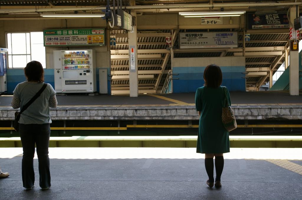 電車もうすぐかな?