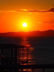 一月二日の夕陽