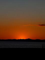 日没の瞬間