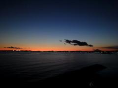 岬・海・夕暮れ・富士・一番星