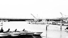 ラフモノクロームな牛込漁港