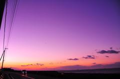 箕浦の夕日