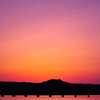 静寂の時間、オレンジと紫の時間