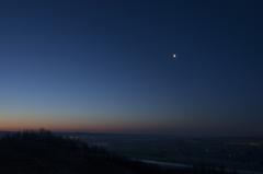 十勝川展望台から