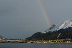 最果ての町にかかる虹
