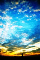 夕暮れと青空