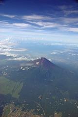 鳥の視点で見る富士山