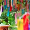 神社の七夕飾り2