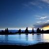 橋杭岩(はしぐいいわ)の夜明け1