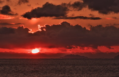 年の瀬黄昏時の播磨灘