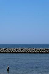 播磨灘の釣り人1