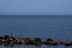 播磨灘の釣り人3