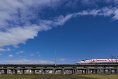 師走を行くハローキティ新幹線