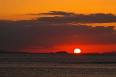 初秋の播磨灘の夕景5