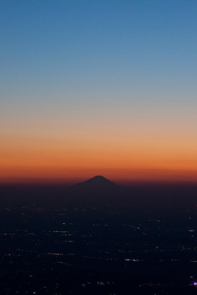 筑波山からの富士山