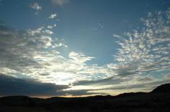 広がる空と、夕日・・・