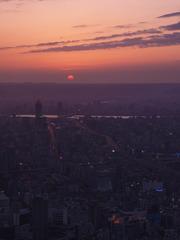 台北市街の夕暮れ