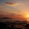 東シナ海に沈む夕日