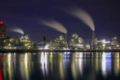 工場夜景ー3