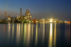 工場夜景ー4