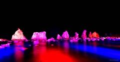 橋杭岩ライトアップ1