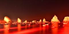 橋杭岩ライトアップ3