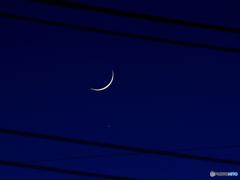 月齢2.02 三日月&土星