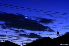 月齢2.13 三日月 地球照