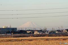 '17 初富士景