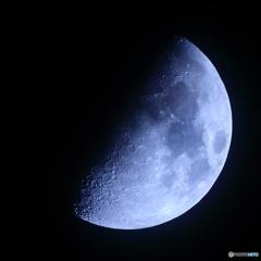 月齢8.05 上弦 九日月
