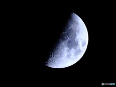 月齢8.14 九夜月 上弦 半月