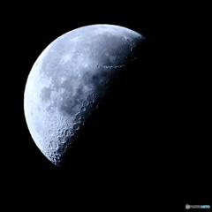 月齢21.6 二十三夜 下弦 半月