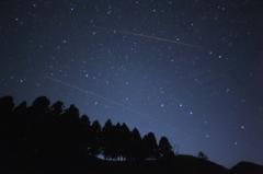 柄杓と流星