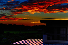 2階からの夕日