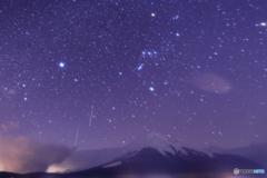 山中湖で双子座流星群