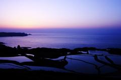 東後畑の夕日 その2