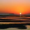 日の出後の岐波海岸