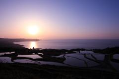 東後畑の夕日