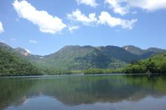 湯ノ湖にて