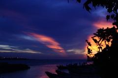 太陽と雲のコラボ