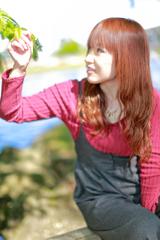 七北田公園にて。