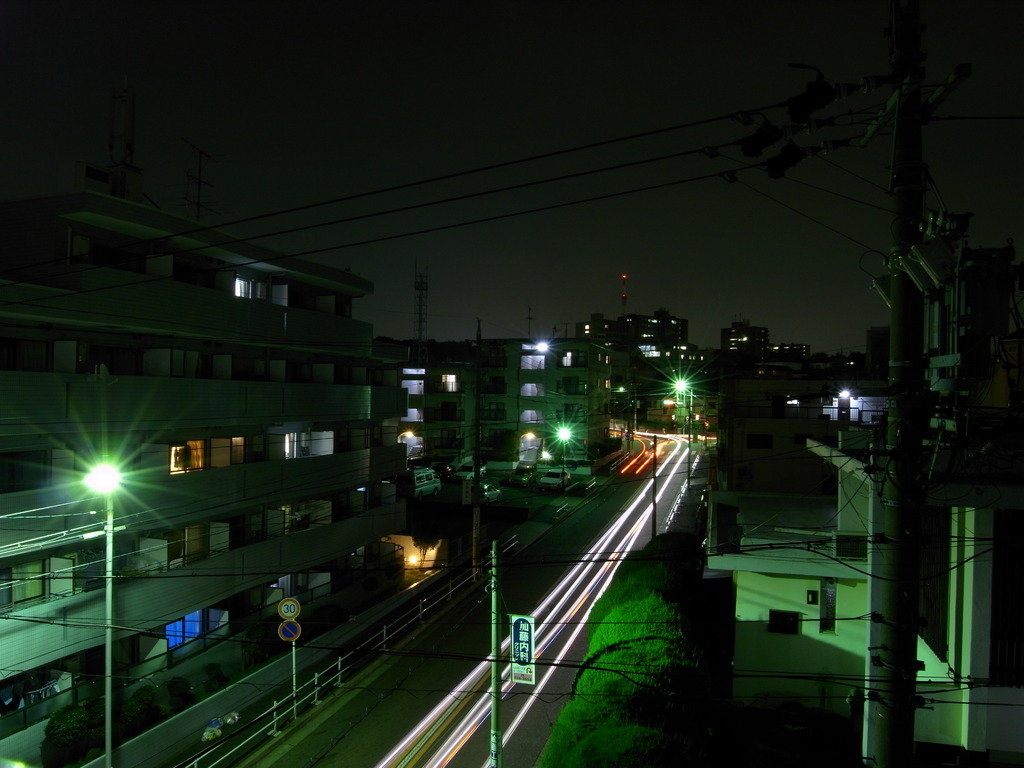 夜のベランダ