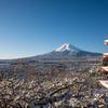 快晴の富士に雪
