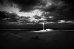 浜辺の電灯