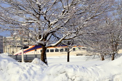 新幹線「つばさ」が通過した