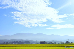今朝の杢蔵山と 空
