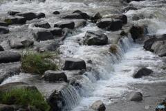 雨上がりの川の流れ